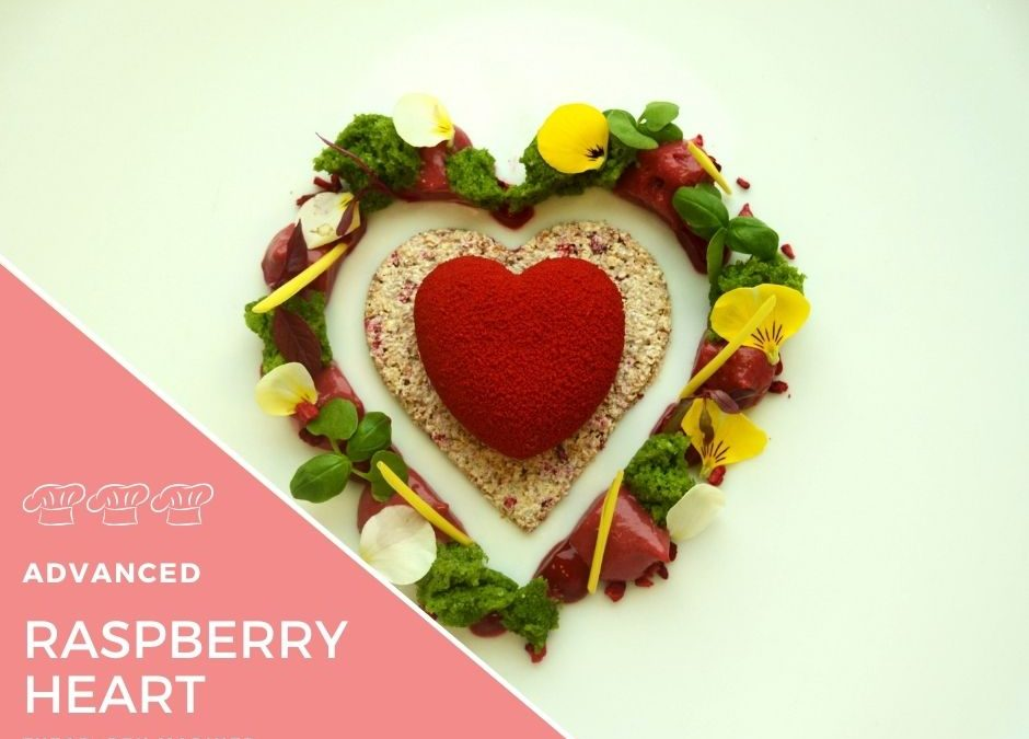 Recipe – Raspberry, milk chocolate & pistachio heart