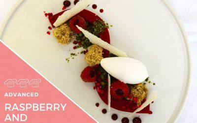 Recipe – Set Raspberry Cream, Yoghurt Sorbet & Coconut Raspberry Sponge