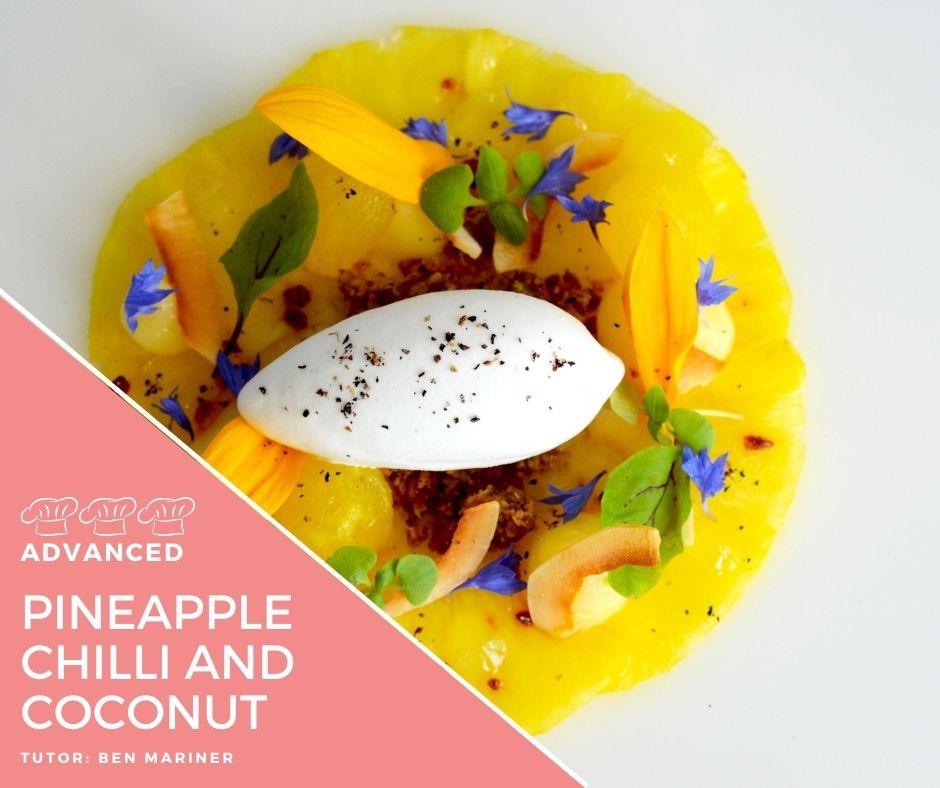 Recipe – Pineapple Carpaccio, chilli, lime and coconut