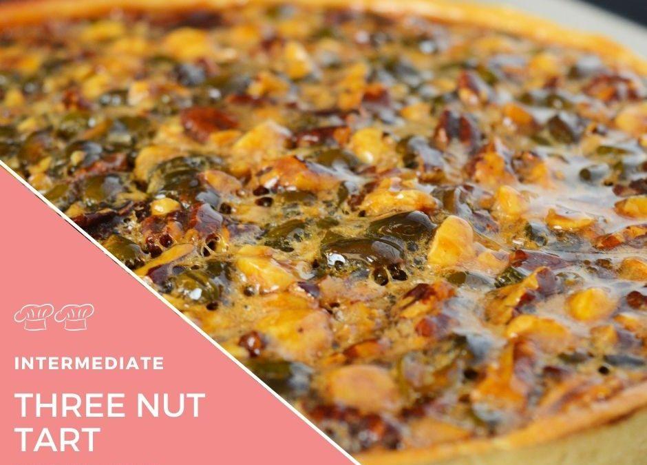 Recipe – Three nut tart with clotted cream icecream