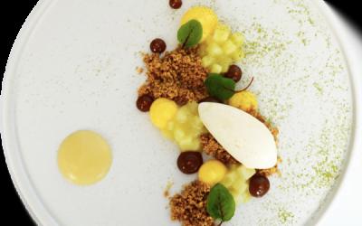 Recipe – Apple and custard, caramel, hazelnut