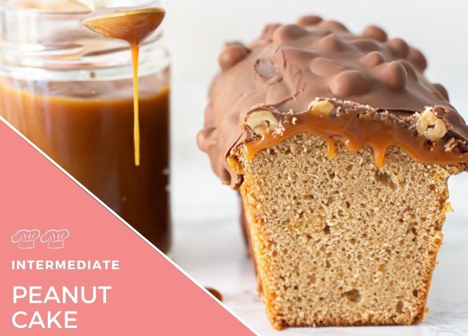 Peanut and caramel cake