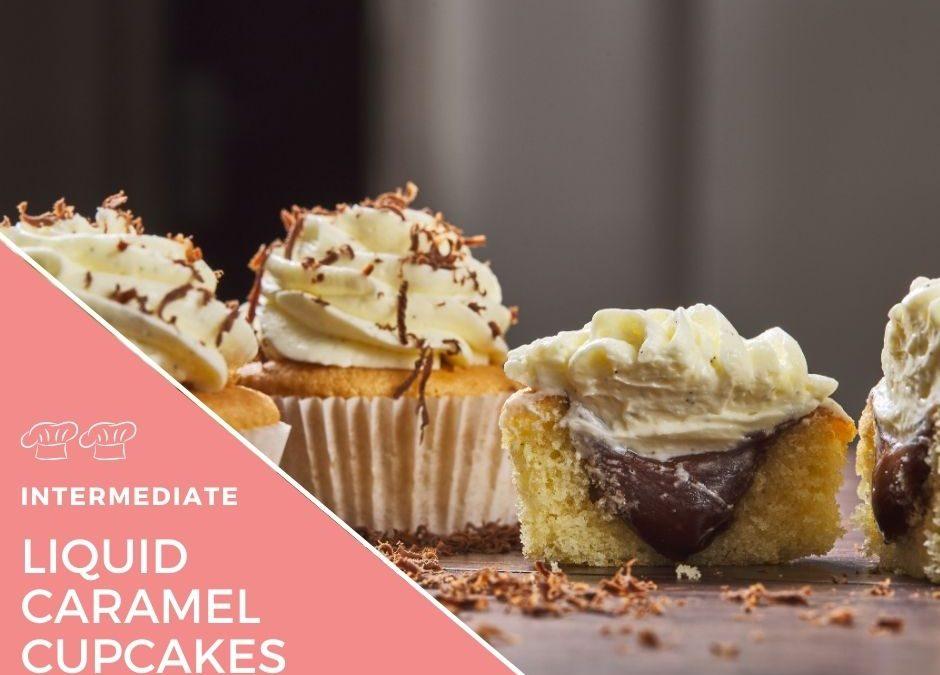 Liquid caramel centre cupcakes
