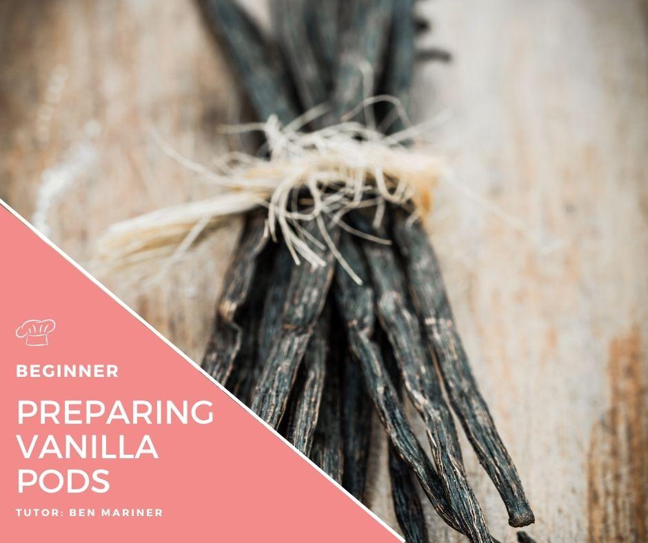 Preparing Vanilla pods